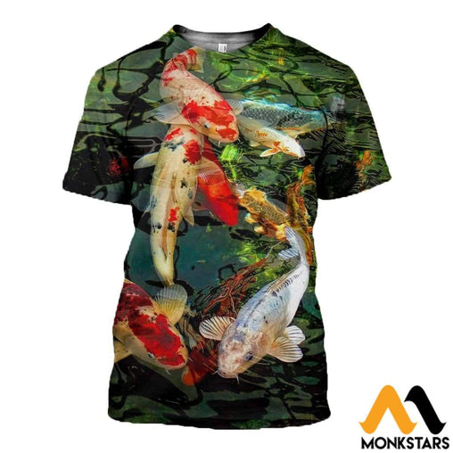 3D All Over Printed Koi T-Shirt Hoodie Saal030503 / Xs Clothes