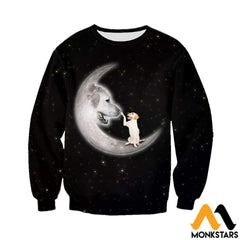3D All Over Printed Labrador Retriever Moon Clothes Long-Sleeved Shirt / Xs