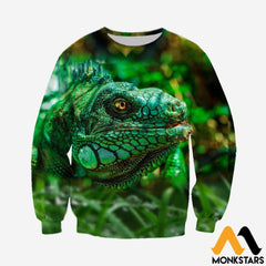 3D All Over Printed Lizard Shirts And Shorts Long-Sleeved Shirt / Xs Clothes