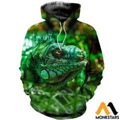 3D All Over Printed Lizard Shirts And Shorts Normal Hoodie / Xs Clothes