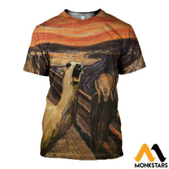 3D All Over Printed Llama The Scream Tops T-Shirt / Xs Clothes