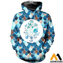 3D All Over Printed Lovely Mermaid Shirts And Shorts Normal Hoodie / Xs Clothes