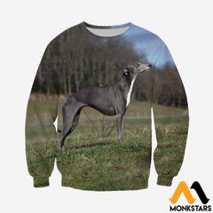 3D All Over Printed Lurcher Dog Shirts And Shorts Long-Sleeved Shirt / Xs Clothes
