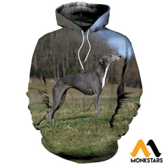 3D All Over Printed Lurcher Dog Shirts And Shorts Normal Hoodie / Xs Clothes
