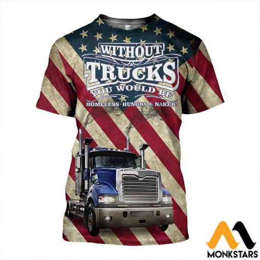 3D All Over Printed Mack Truck Shirts And Shorts T-Shirt / Xs Clothes
