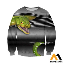 3D All Over Printed Magic Snake Shirts And Shorts Long-Sleeved Shirt / Xs Clothes