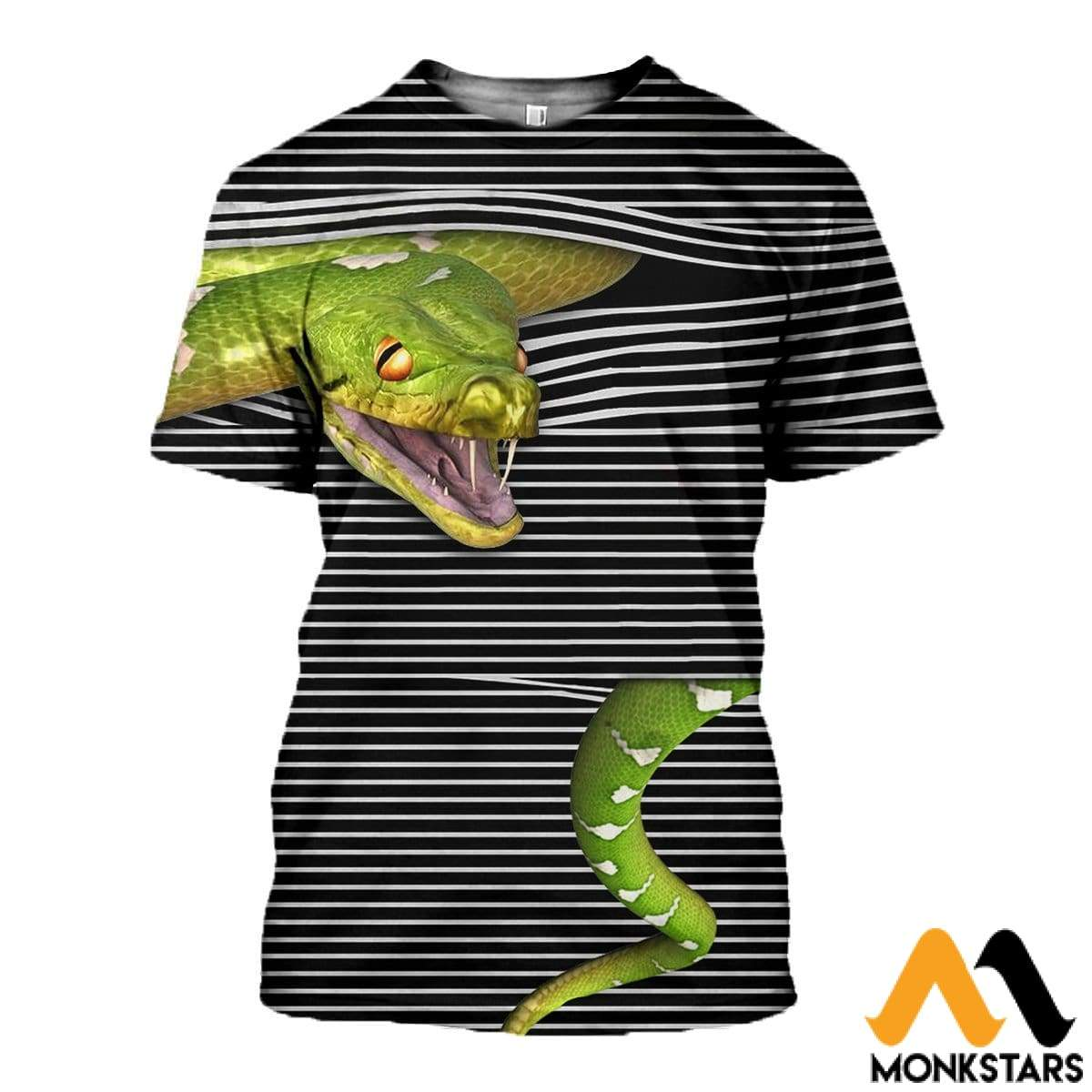 3D All Over Printed Magic Snake Shirts And Shorts T-Shirt / Xs Clothes