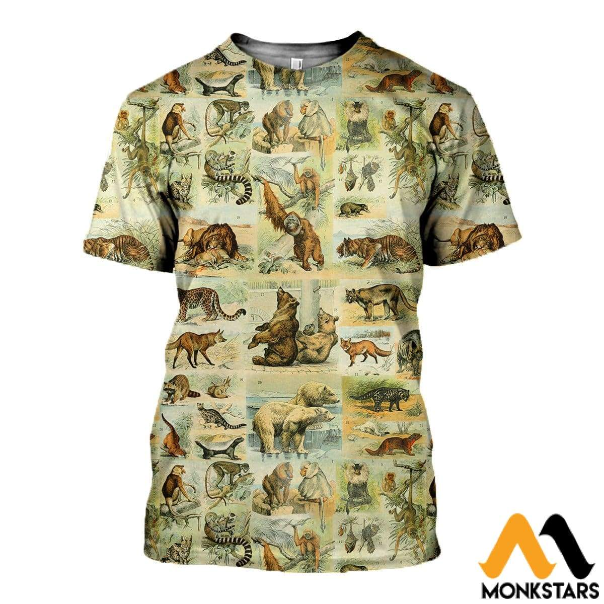 3D All Over Printed Mammals Shirts And Shorts T-Shirt / Xs Clothes