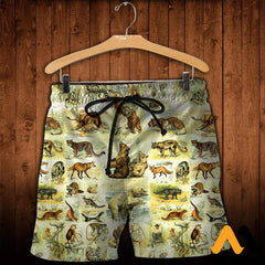 3D All Over Printed Mammals Shirts And Shorts / Xs Clothes