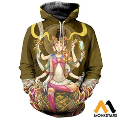 3D All Over Printed Mandala Moon Shirts Normal Hoodie / Xs Clothes
