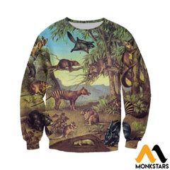 3D All Over Printed Marsupial Animals Shirts And Shorts Long-Sleeved Shirt / Xs Clothes