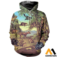3D All Over Printed Marsupial Animals Shirts And Shorts Normal Hoodie / Xs Clothes
