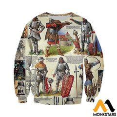 3D All Over Printed Medieval Troops Shirts And Shorts Long-Sleeved Shirt / Xs Clothes