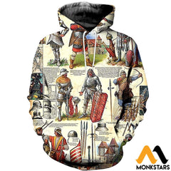 3D All Over Printed Medieval Troops Shirts And Shorts Normal Hoodie / Xs Clothes