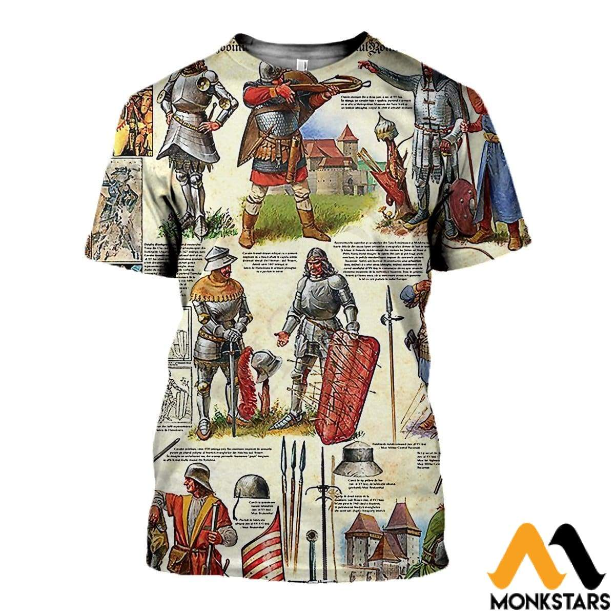 3D All Over Printed Medieval Troops Shirts And Shorts T-Shirt / Xs Clothes