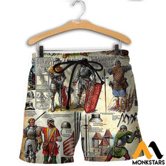 3D All Over Printed Medieval Troops Shirts And Shorts / Xs Clothes