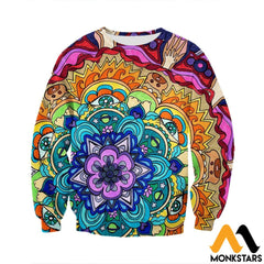 3D All Over Printed Microcosm Mandala Shirts And Shorts Long-Sleeved Shirt / Xs Clothes