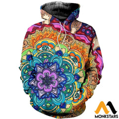 3D All Over Printed Microcosm Mandala Shirts And Shorts Normal Hoodie / Xs Clothes