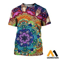 3D All Over Printed Microcosm Mandala Shirts And Shorts T-Shirt / Xs Clothes