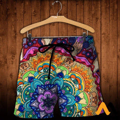 3D All Over Printed Microcosm Mandala Shirts And Shorts / Xs Clothes