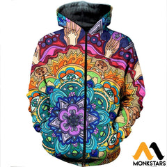 3D All Over Printed Microcosm Mandala Shirts And Shorts Zipped Hoodie / Xs Clothes