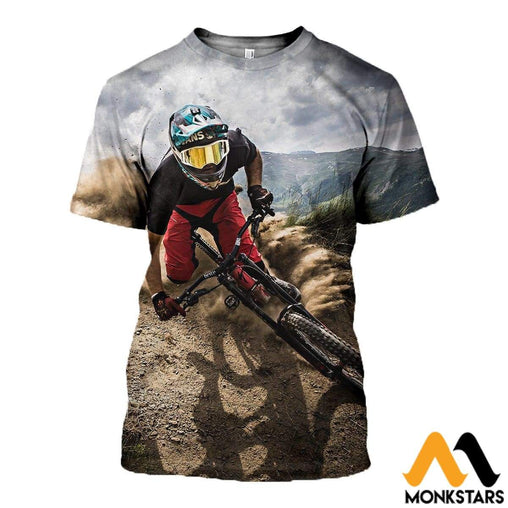 3D All Over Printed Mountain Biking Clothes T-Shirt / Xs