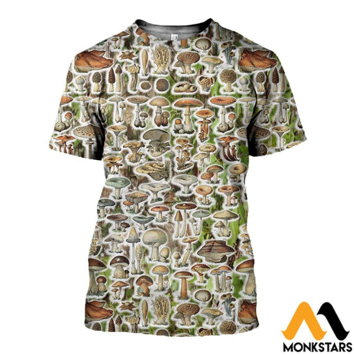 3D All Over Printed Mushroom Camo Shirts And Shorts T-Shirt / Xs Clothes