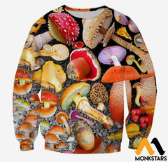 3D All Over Printed Mushroom Shirts And Shorts Long-Sleeved Shirt / Xs Clothes