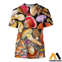3D All Over Printed Mushroom Shirts And Shorts T-Shirt / Xs Clothes