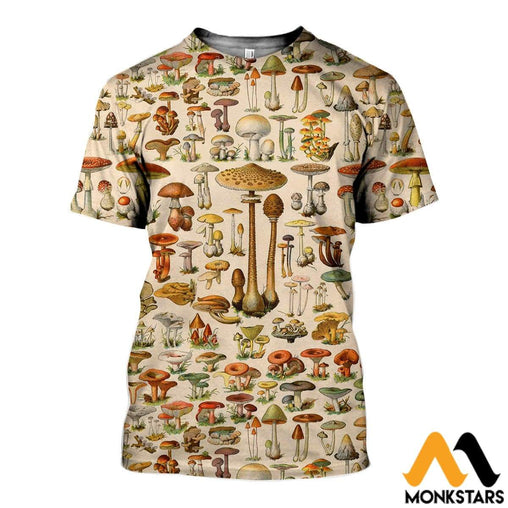 3D All Over Printed Mushrooms Shirts And Shorts T-Shirt / Xs Clothes