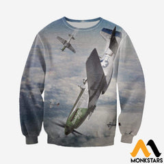 3D All Over Printed Mustang-P51 Clothes Long-Sleeved Shirt / Xs