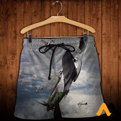 3D All Over Printed Mustang-P51 Clothes Shorts / Xs