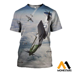 3D All Over Printed Mustang-P51 Clothes T-Shirt / Xs