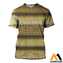 3D All Over Printed Nice Fish Skin Shirts And Shorts T-Shirt / Xs Clothes
