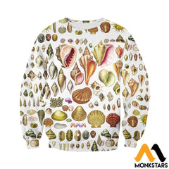 3D All Over Printed North American Shells Shirts And Shorts Long-Sleeved Shirt / Xs Clothes