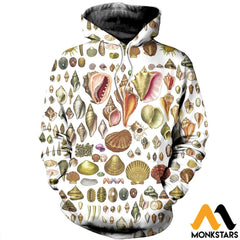 3D All Over Printed North American Shells Shirts And Shorts Normal Hoodie / Xs Clothes