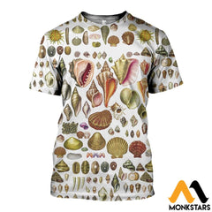 3D All Over Printed North American Shells Shirts And Shorts T-Shirt / Xs Clothes