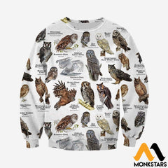3D All Over Printed Owls Of The World Shirts And Shorts Long-Sleeved Shirt / Xs Clothes