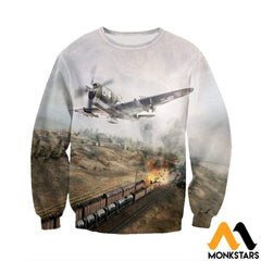 3D All Over Printed P47 Thunderbolt Shirts And Shorts Long-Sleeved Shirt / Xs Clothes