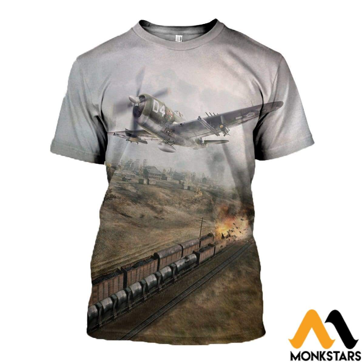 3D All Over Printed P47 Thunderbolt Shirts And Shorts T-Shirt / Xs Clothes