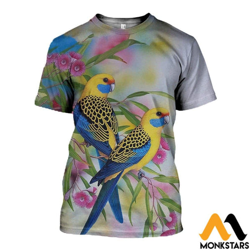 3D All Over Printed Painting Rosella Clothes T-Shirt / Xs