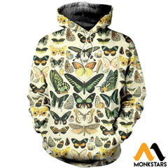 3D All Over Printed Papillons Shirts And Shorts Normal Hoodie / Xs Clothes