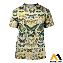 3D All Over Printed Papillons Shirts And Shorts T-Shirt / Xs Clothes