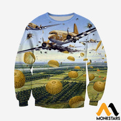3D All Over Printed Paratrooper Clothes Long-Sleeved Shirt / Xs