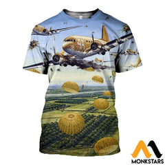 3D All Over Printed Paratrooper Clothes T-Shirt / Xs