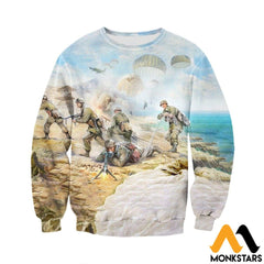 3D All Over Printed Paratrooper Shirts And Shorts Long-Sleeved Shirt / Xs Clothes