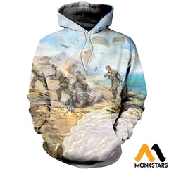 3D All Over Printed Paratrooper Shirts And Shorts Normal Hoodie / Xs Clothes