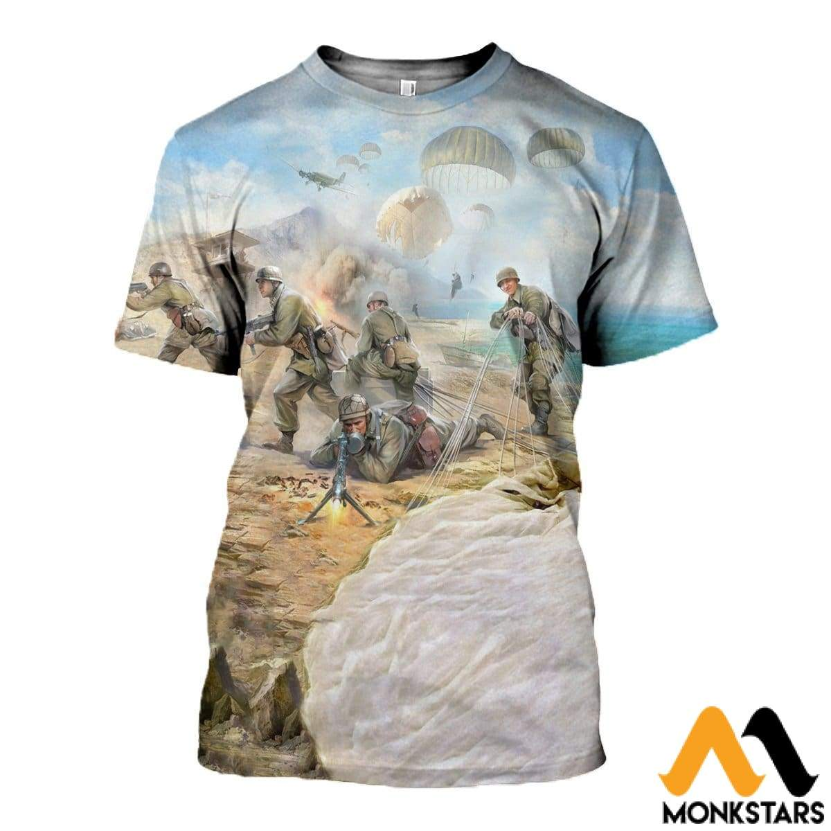 3D All Over Printed Paratrooper Shirts And Shorts T-Shirt / Xs Clothes