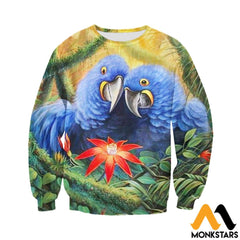 3D All Over Printed Parrot Clothes Long-Sleeved Shirt / Xs