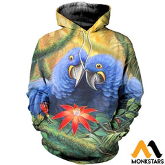3D All Over Printed Parrot Clothes Normal Hoodie / Xs